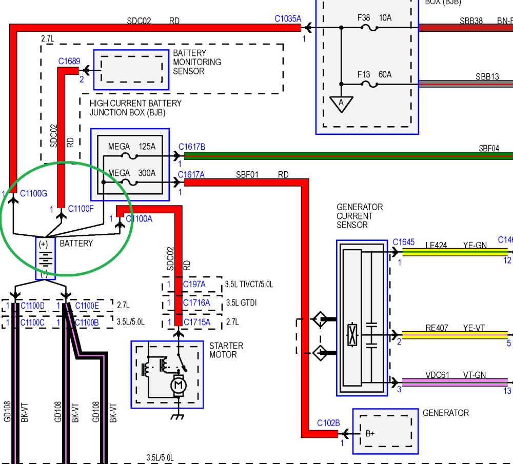 Alternator, diagram, battery, positive, remove, don't, take, off, the, battery, terminal, to test the Alternator
